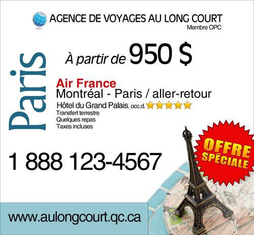 Exemples De Publicit 233 D Agent De Voyages