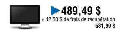 Le prix est de $ 489,49 plus $ 42,50 pour les frais de récupération égal $ 529.99.