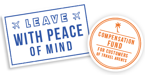 Leave with peace of mind with the compensation fund for customers of travel agents